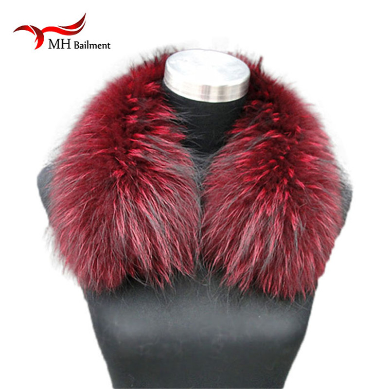 ladies scarf warm gift Raccoon Fur Collars for Jacket banand Schal Scarves Female Fashion Warm Genuine