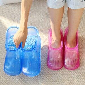 Image 3 - 1 par de pé banho massagem botas relaxamento tornozelo embeber banho terapia massageador sapatos acupoint sola portátil casa pés cuidados ferramentas
