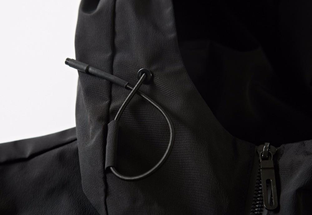 ardoisé Coupe Hommes Mode Mince vent Jeune Noir Automne Green Printemps Poche À Fermeture 2018 Capuchon Vêtements Vestes Occasionnel Éclair army De Manteaux zHxgndq5