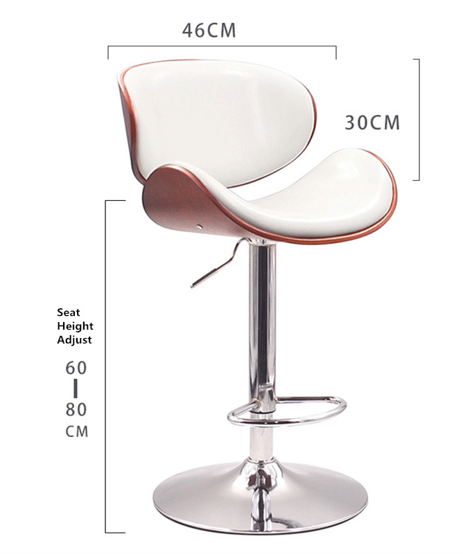 Remarkable Us 159 0 Height Adjustable Modern Swivel Bar Stool Walnut Bentwood Pu Leather Seat And Back Home Cafe Stool For Pub Mini Bar Furniture In Bar Stools Pabps2019 Chair Design Images Pabps2019Com