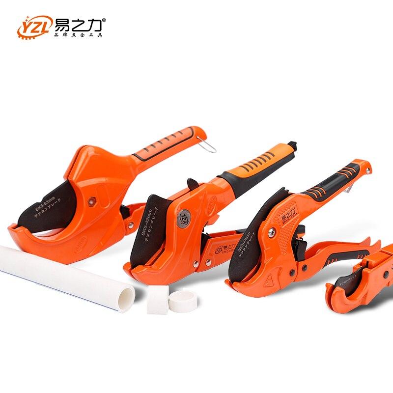 Cortador de tubo PVC 42mm aleación de aluminio cuerpo trinquete tijeras cortador de tubo PVC/PU/PP/PE herramientas manuales de corte de manguera