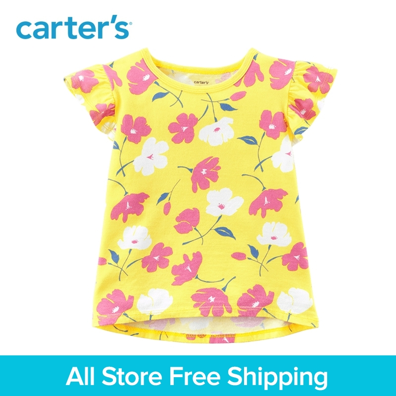 Carters 1-Piece baby children kids clothing Girl Summer cotton jersey Floral Hi-Lo Tee 253H651/273H647