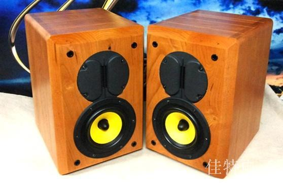 US $1663 0 |DIY solid wood Hivi / Swans M1 speakers original speaker kit +  cherry wood cabinet-in Other Electronic Components from Electronic