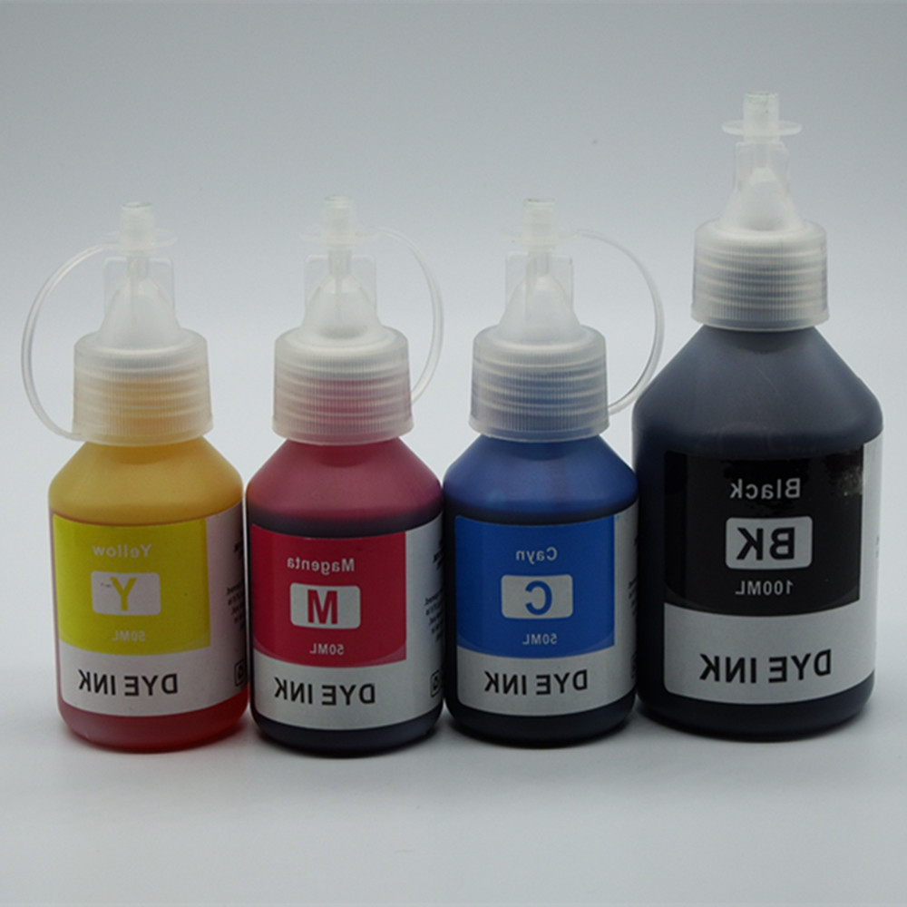 4 Pcs Refill Dye Ink Kit kits BK 100ML C/M/Y 50ML Special For all Brother DCP-T300 500W T700W T800W Refillable Inkjet Printer cy7c63101a sc