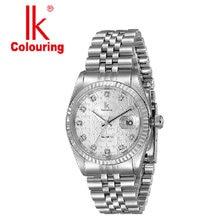 Ik for quartz watch 50 meters waterproof mens watch male watch calendar watch 304 stainless steel