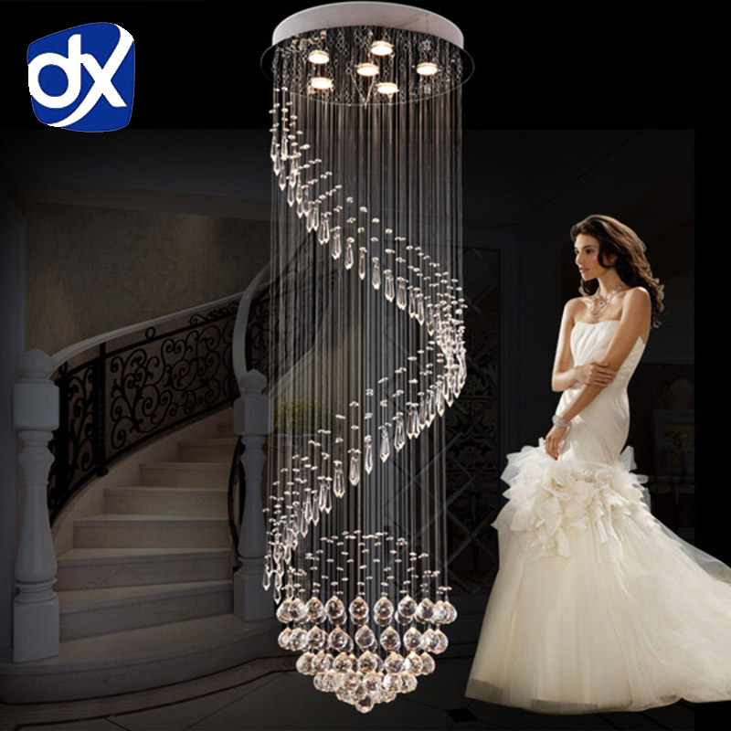 Modern Fashion Penthouse Floor Crystal Pendant Lamp Villa Hall Living Room Lamp Crystal Lamp Diameter 35cm/80cm Free Shipping private villa living room chair retail