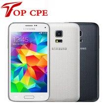 "Original Unlocked Samsung Galaxy S5 mini G800F Mobile phone 4.5"" Android Quad Core 1.5 RAM 16GB ROM 8.0MP Refurbished"