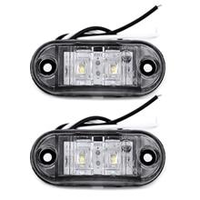 2 قطعة الأبيض 12 فولت LED سيارة الجانب ماركر الذيل ضوء 24 فولت مقطورة مصباح شاحنة 66*28*18 مللي متر عالية الجودة السيارات مصابيح العلامات الجانبية اكسسوارات