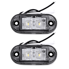 2Pcs Weiß 12V LED Auto Seite Marker Schwanz Licht 24V Anhänger Lkw Lampe 66*28*18mm Hohe Qualität Auto Seite Marker Lichter Zubehör