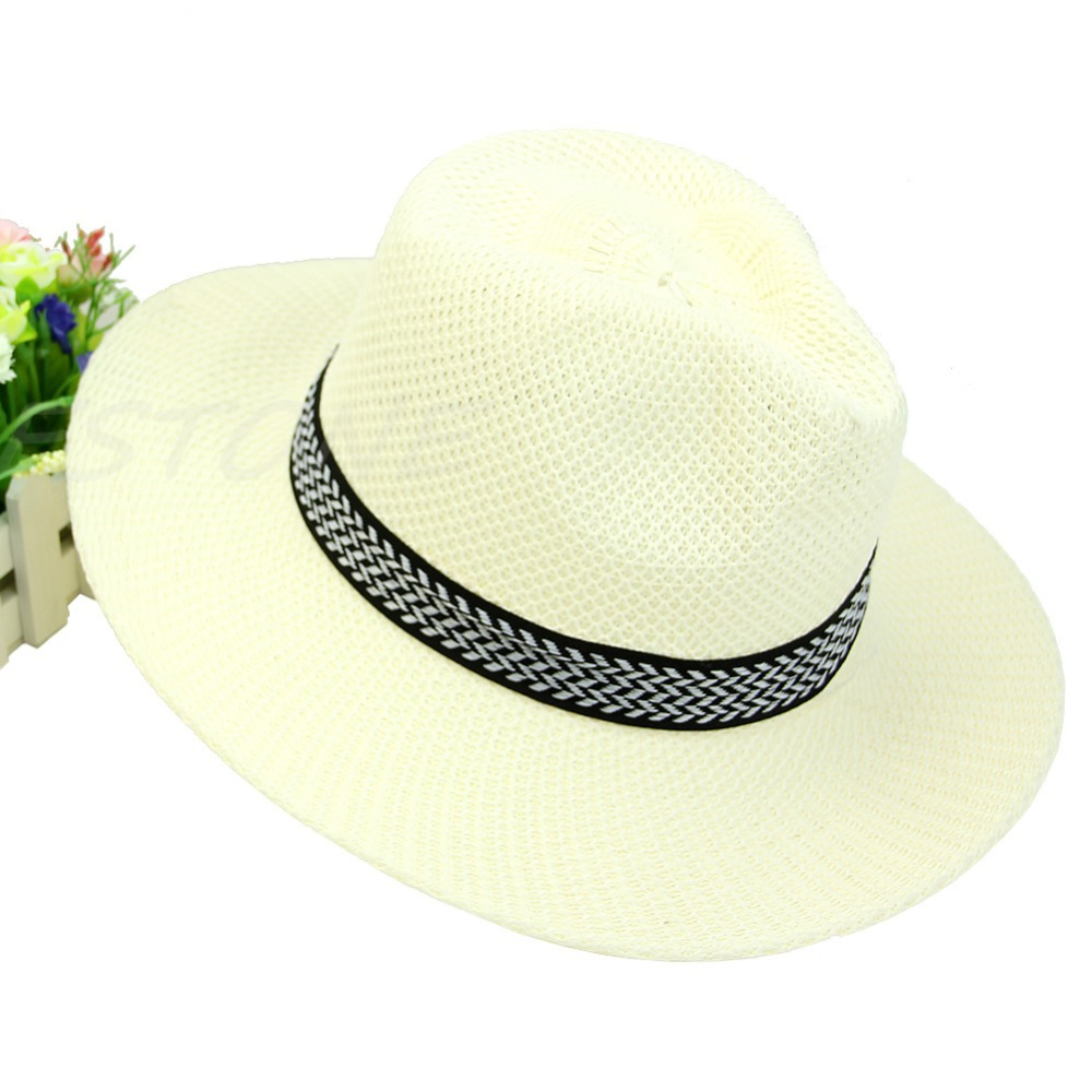 67683b30adc Women Mens Summer Linen Straw Hat Beach Sun Cap Fashion Hot Unisex Casual  Trilby Knitti Middle