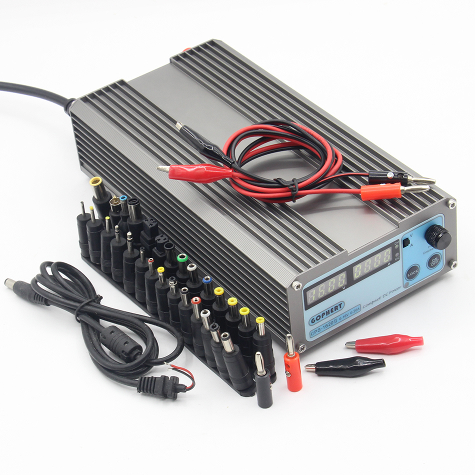 CPS-1620 Mini Digital Adjustable Switching DC Power Supply OVP/OCP/OTP low power 0- 16V 0-20A портмоне forte