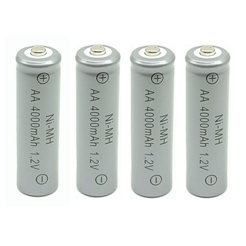 2a AA rechargeable battery 1 2V 4000mAh Ni MH Pre charged Rechargeable Battery 2A Baterias for Camera toy in Replacement Batteries from Consumer Electronics