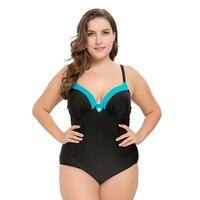 CATTLEYA Push Up Swimsuit One Piece Bodysuit Mesh Black Women YS 17090