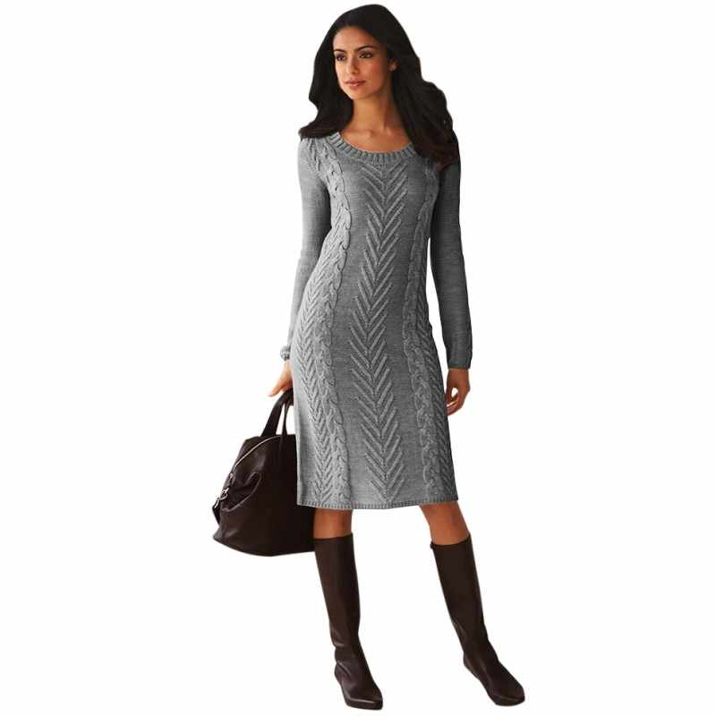 29cc3fe9eeb9 Detail Feedback Questions about Zmvkgsoa 100% Polyester OEM Service Knitted  Adults Winter Dresses Long Sleeve Tight Sweater Dress For Women m27772 on  ...