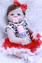 girl bebe reborn doll New rooted Fiber hair menina de silicone menina 55 cm baby born boneca dolls toys for children