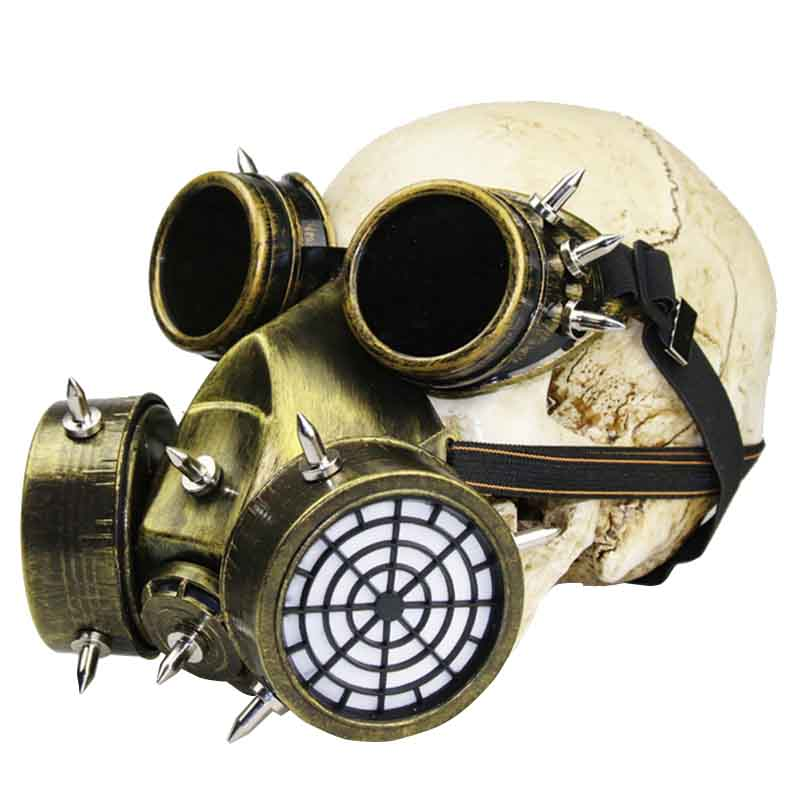 Boys Costume Accessories Smart Black Gothic Rock Military Anti-fog Haze Steampunk Gas Mask Respirator Filter Halloween Party Masks Anime Cosplay Accessories