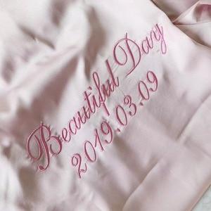 Image 2 - Jrmissli Gepersonaliseerde Bruid Gewaad Team Vrouwen Custom Wedding Badjas Vrouwelijke Satijn Zijde Bruidsmeisje Gewaden Voor Vrouwen Bruids Gewaden