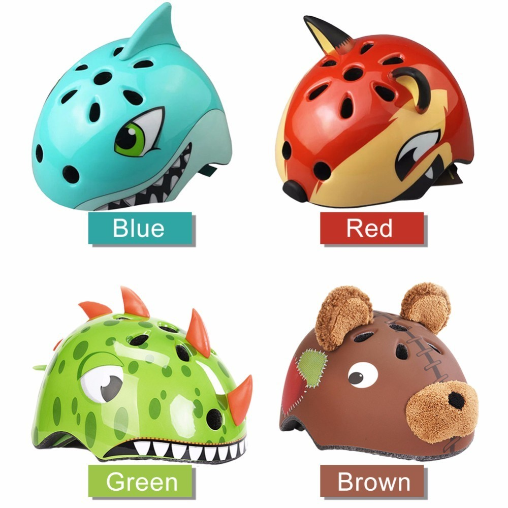 3 8 Years Children S Bike Helmets High Density PC Cartoon Skating Child Cycling Riding Kids