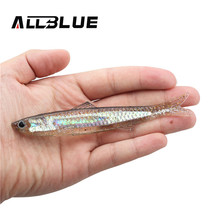 ALLBLUE 2pcs/lot 12.5g/13.5cm Soft Bait Fishing Lure Shad Silicone Bass Flexible Minnow Bait Swimbait Plastic Lure Pasca Peche