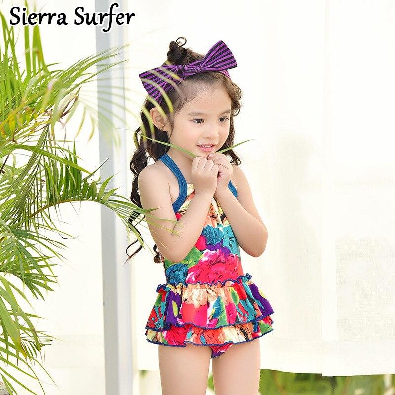 цены Kids Swimwear For Girls Child Girl Swimming Suit Bathing Suits 2018 New Children 0701 Biquini Infantil Menina Maillot De Bain