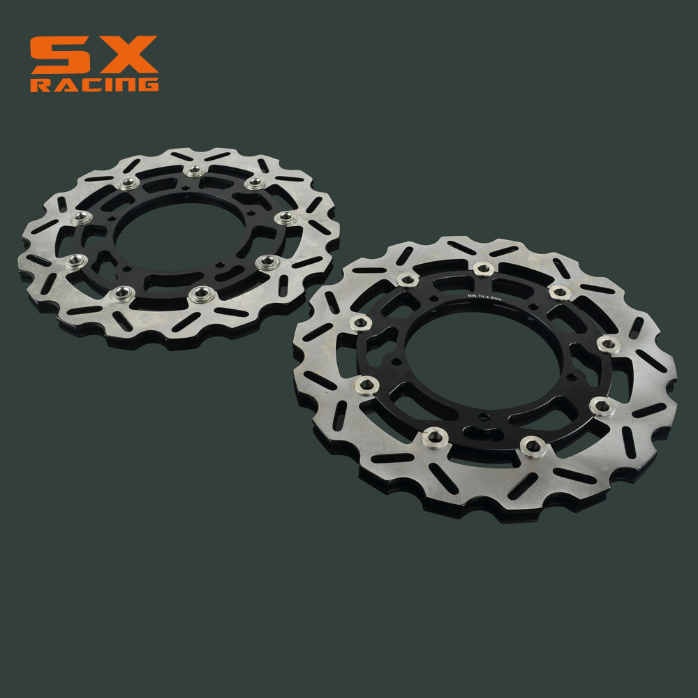 Motorcycle 320mm Front Floating Brake Disc Rotor 2 PCS For YAMAHA FZ-1 FZ1 2006-2013 FZ1-S FAZER 2006-2013 YZF-R1 2004-2006 keoghs mosda motorcycle brake disc brake rotor floating 260mmdiameter for yamaha scooter bws cygnus front disc replace modify