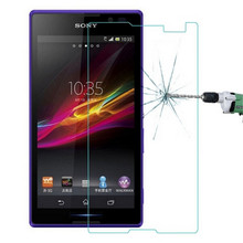 Premium Tempered Glass For Sony Xperia C S39H C2305 C2304 Dual Screen Protector 9H Protective Film Guard