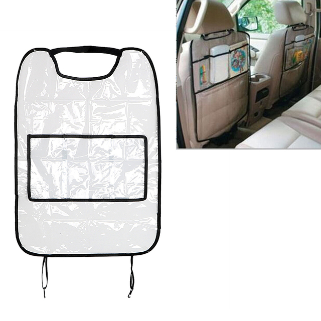 Car Storage Bags For Children Kick Mud Mats Seat Back Protector Waterproof Interior Accessories Car Seat Covers With Bag