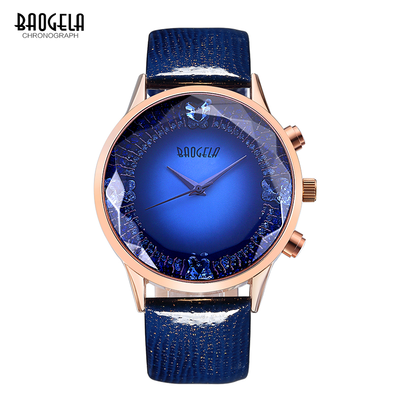 цены  Baogela Women Watches 2017 Fashion Quartz Wrist Watch Leather Strap Wristwatches Relogio Feminino 1605