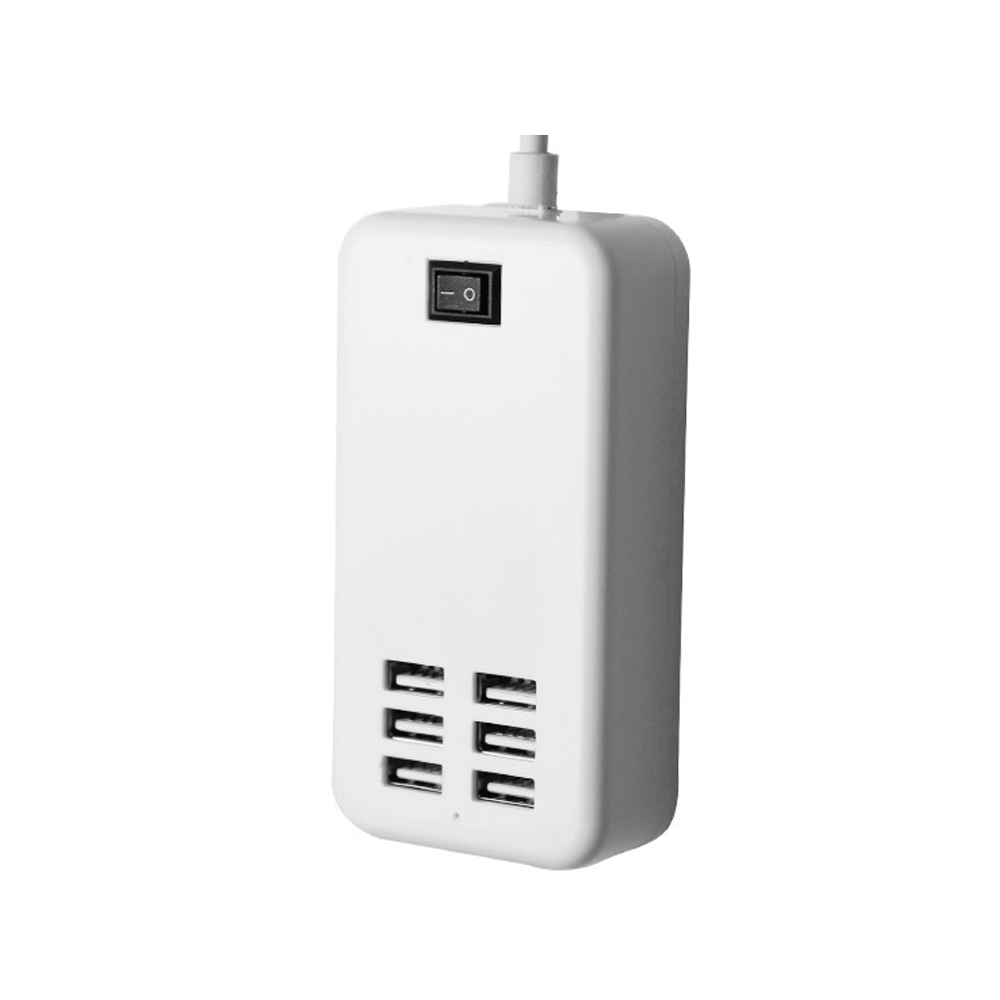 6 Ports USB Charger HUB For IPhone IPad Samsung Multiple Wall Charging US EU Plug Adapter For Huawei Xiaomi Smart Phone