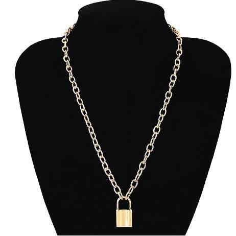 Винтажный кулон замок ожерелье-ошейник псевдо-антикварное ключицы Золотая цепочка, ожерелье, колье подарок на день Святого Валентина 2018