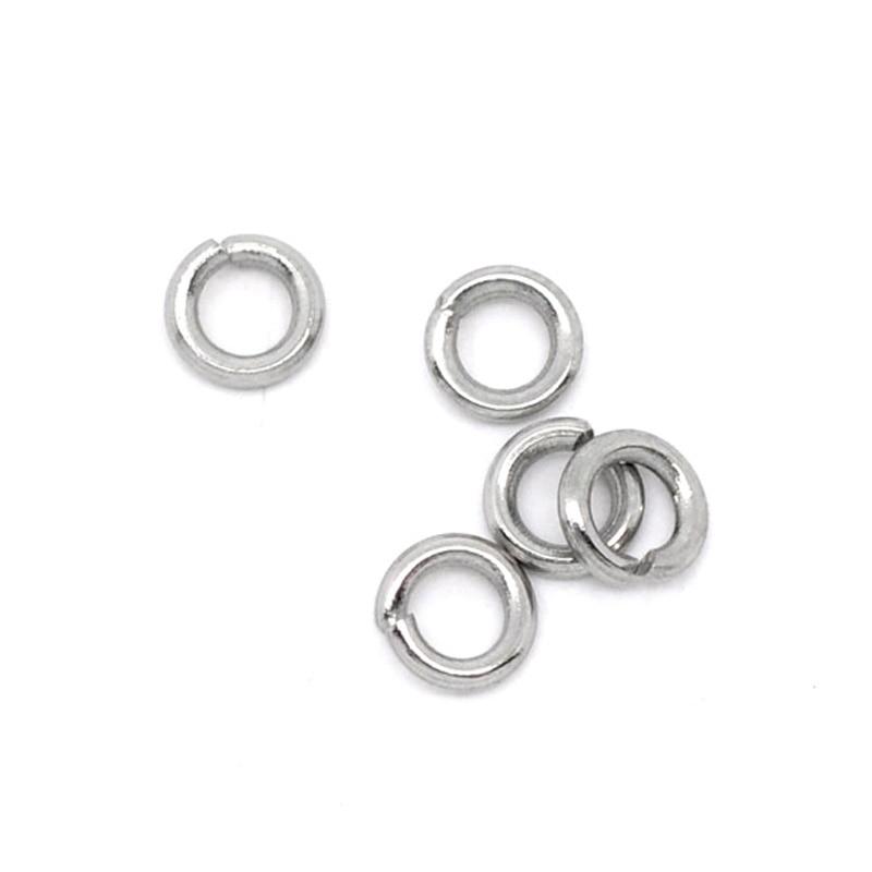 50-500Pcs Stainless Steel Round Loop Split Open Jump Ring Connector DIY Findings