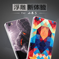 Mi5 relieves pintados de dibujos animados tapa de la batería de la contraportada para xiaomi mi 5 m5