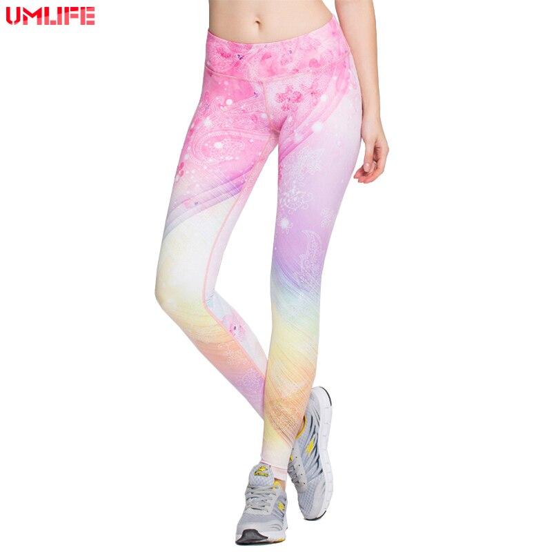 Women High Elastic Yoga Pants Soft Comfortable Pink Digital Print Gym Fitness Legging Running Tights Sport Compression Pants
