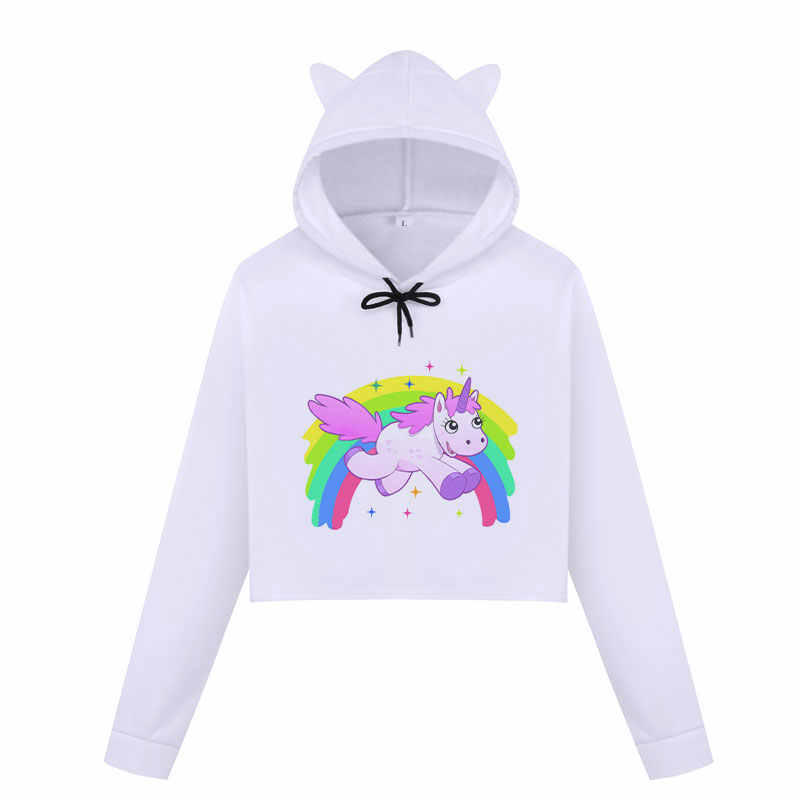 7624cc4f0d ... BTS Kpop anioł jednorożec kobiety bluzy z kapturem zima bluza dorywczo  topy Harajuku Cartoon Kawaii jednorożec ...