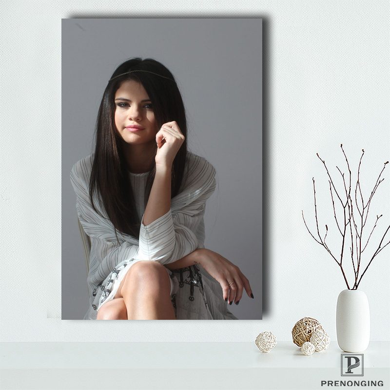 Custom Canvas Poster Selena Cute Gomez   Printing Posters Cloth Fabric Wall Art  Pictures For Living Room Decor#18-12-05-S-01-25