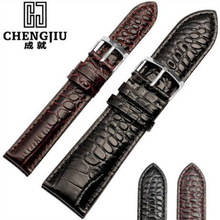 Men Genuine Leather Watchband For Armani AR2436 2432 2447 2433 Watches Leather Watch Strap For Male Watch Band Bracelet Belt(China)