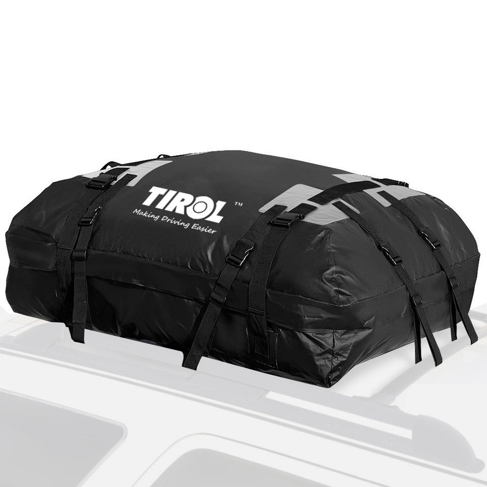 Waterproof Auto Top Carrier Cargo Bag Luggage Travel Bag 15 Cubic Feet For Vehicles with Roof