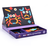 Magnetic Jigsaw Puzzle Changeable Creative Magnets Game Box Magnets Traffic Funny Face Dressing Activities Educational Toys