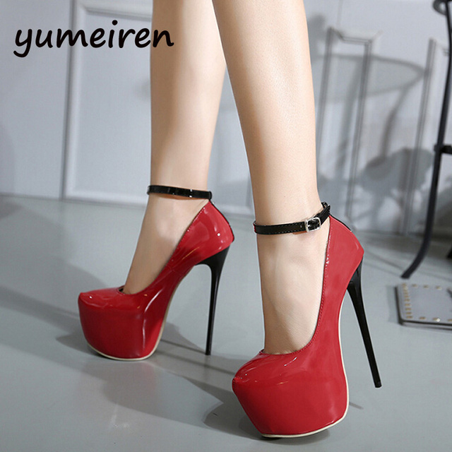 sexy high heels shoes ankle strap heels platform bridal shoes pumps red  wedding shoes sexy heels women shoes pumps black Y995 afcb20e6d59a