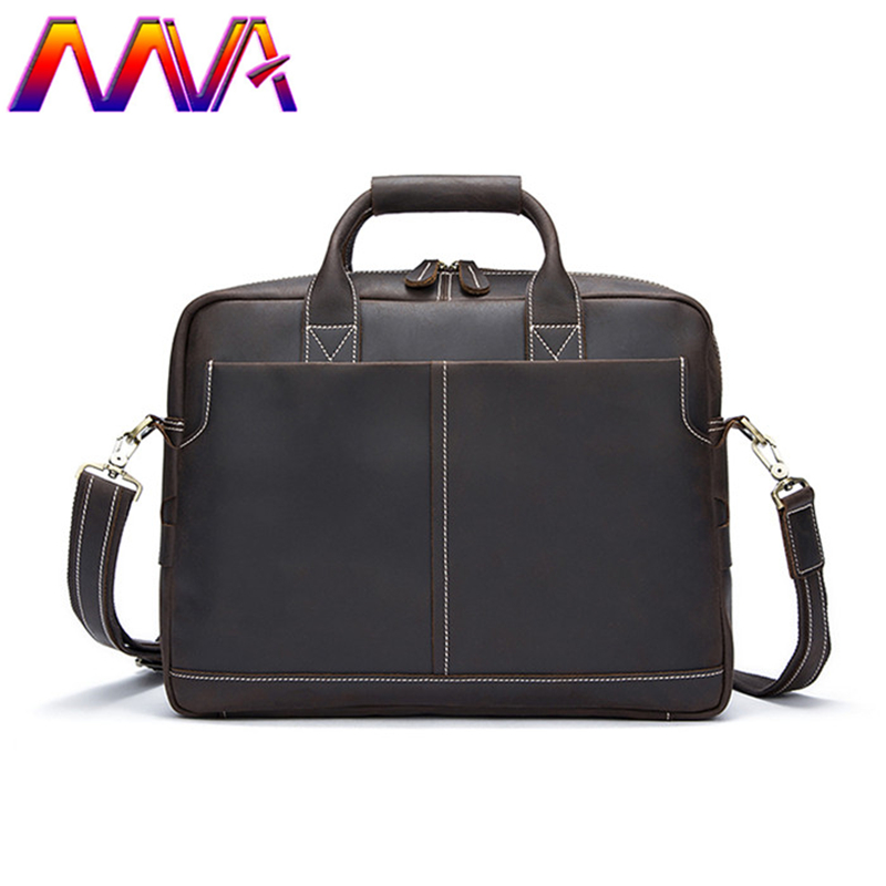 MVA Fashion laptop bag with genuine leather men briefcase men shoulder bag for 14 inch notebook computer bag women briefcase стоимость