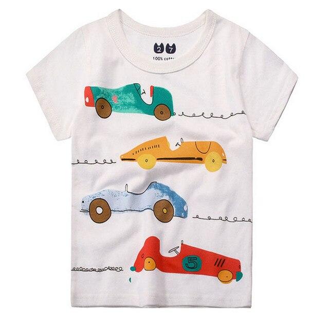 20292dadc1e1 New 2017 Cotton Animal Cartoon Children s T shirt boys t-shirt Baby  Clothing Little boy Summer shirt Tees Boys 1-10 Years