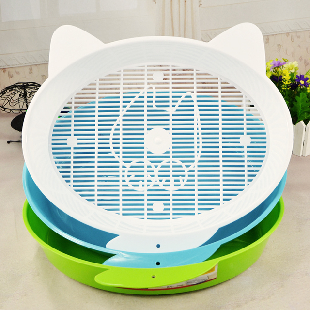 POPOKi Antibacterial Breathable Round Litter Box for Small Animals 2colors