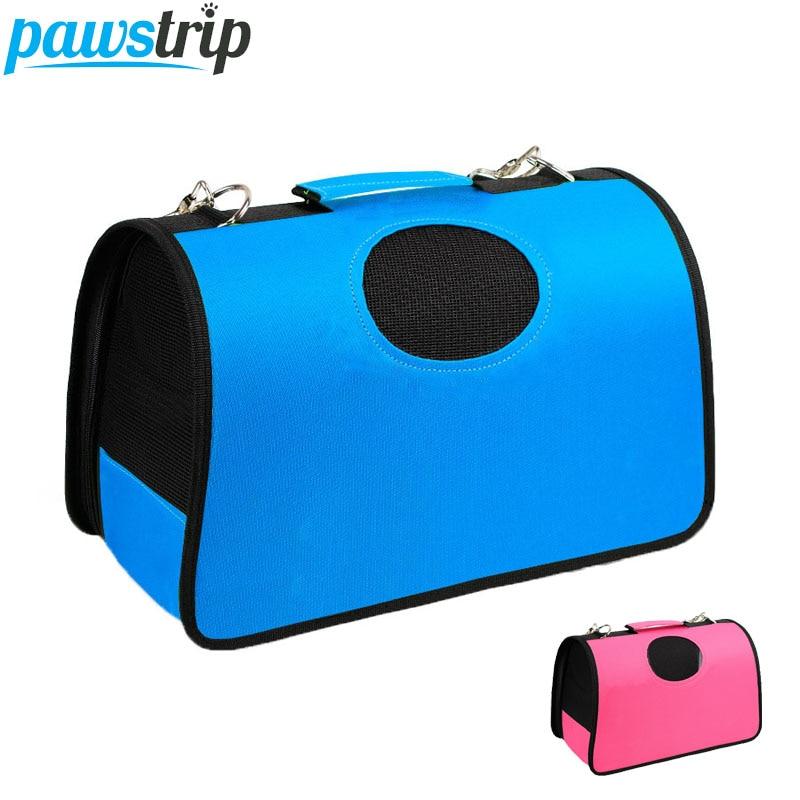 Pawstrip 4 Colors Folding Small Dog Carrier Bag Outdoor Chihuahua Dog Travel Bag Oxford Mesh Cat Carrier Handbag S/M