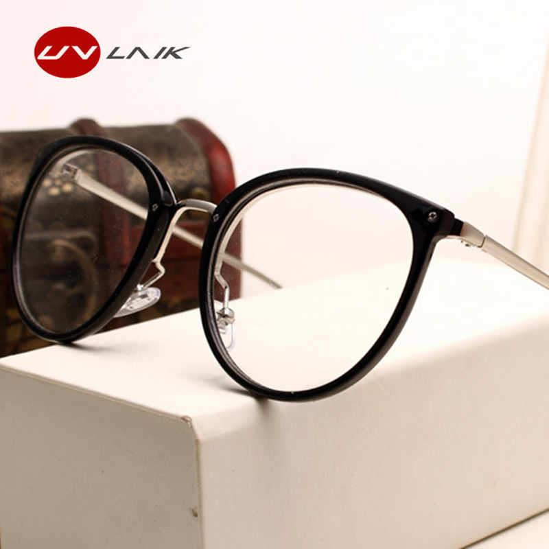 7d12ebe400 ... UVLAIK Optical Lens Glasses Women Myopia Eyeglasses Frames Trend Metal  Spectacles Clear Lenses Women s Glasses ...