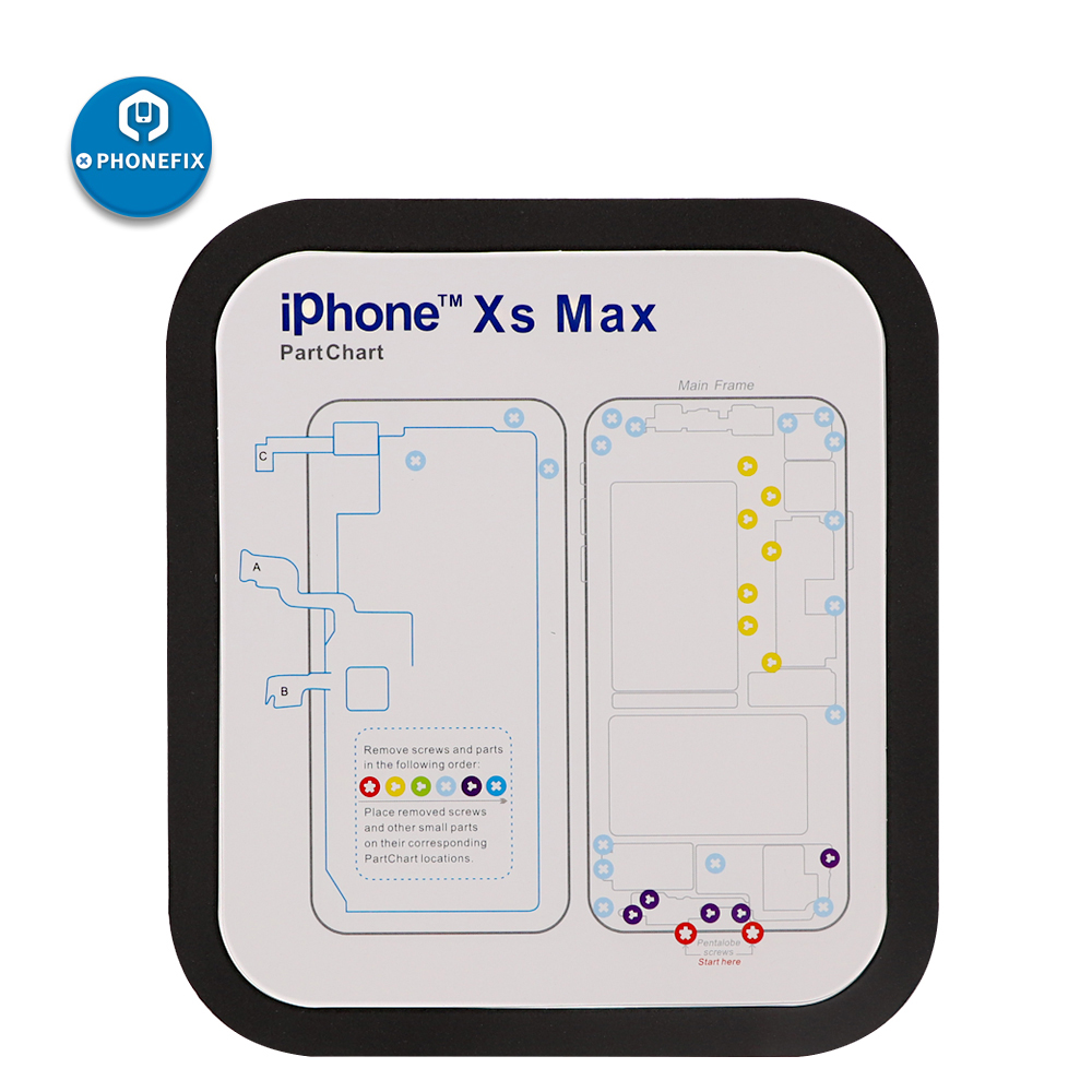 PHONEFIX Professional Magnetic Screw Chart Mat Repair Guide Pad For IPhone 6 6 Plus 6s 7 7 Plus 8 8 Plus X Plus X Xs Xs Max XR