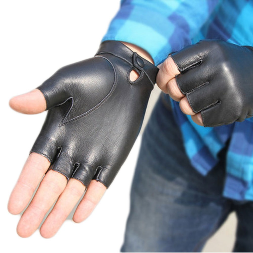 Fingerless leather gloves mens accessories - Sport Gloves Men Half Finger Leather Gloves Ourdoor Bike Riding Tactical Fingerless Leather Gloves Made In