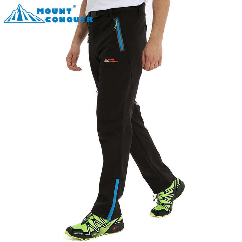 Softshell Pants Men Breathable Thermal Waterproof Pants Outdoor Sport Camping Hiking Pants Fleece Outdoor Pants winproof Mammoth
