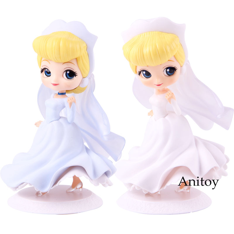 Q Posket Action Figure Princess Characters Cinderella Dreamy Style Weeding Dress PVC Collectible Model Toy image
