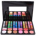 78 Colors Matte Shimmer Warm Fashion Stage Professional Eyeshadow Palette Shadow Palette Set And Mirror Makeup Tool Kits