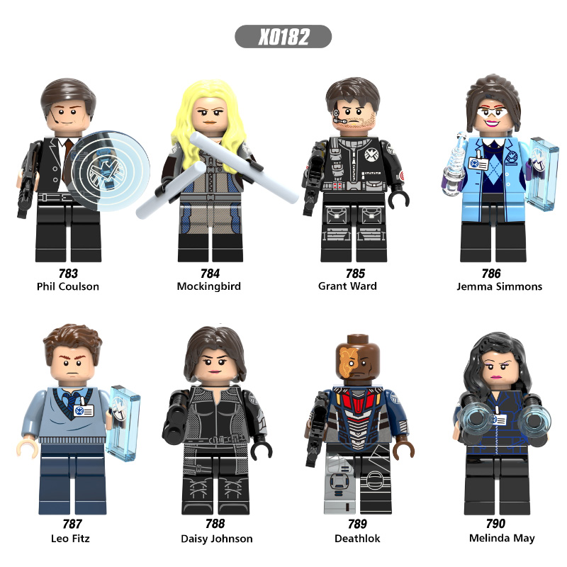 Single Sale Phil Coulson Mockingbird Grant Ward Jemma Simmons Daisy Johnson Super Heroes Building Blocks Toys Kids Gift